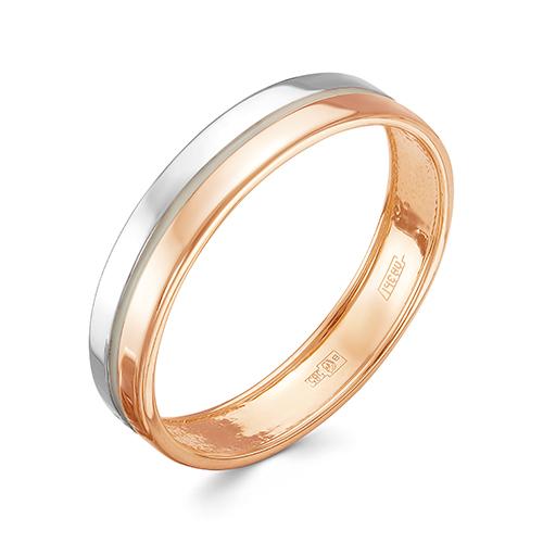 Кольцо из красного золота со вставками: эмаль