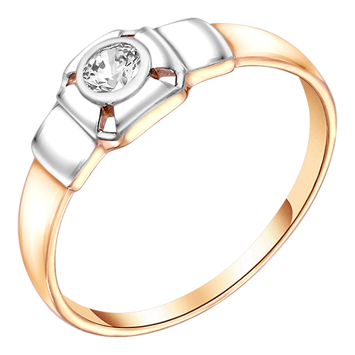 Кольцо из белого золота со вставками: цирконий