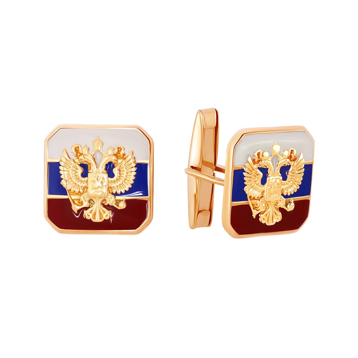 Запонки из красного золота со вставками: эмаль 03-2897 zouz фото