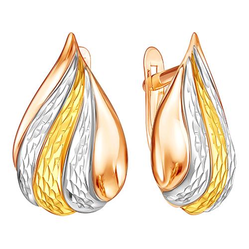 Серьги из позолоченного золота