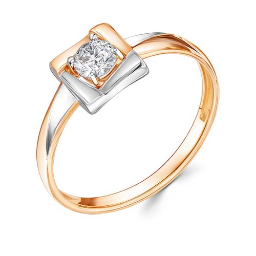 Кольцо из белого золота со вставками: кристалл Сваровски